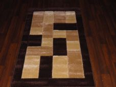 Modern New Rug Approx 5x2ft6 80x150cm Woven Thick best around ,Blocks Browns